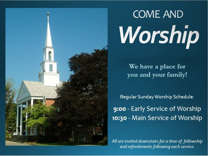 Regular Worship Schedule