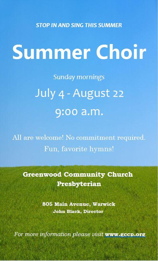 Summer Choir Flyer